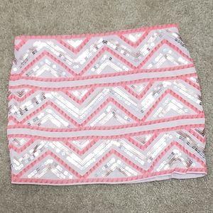 Express sequin Aztec mini skirt